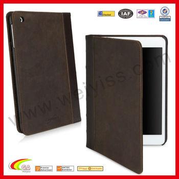 Vintage Book Design Wallet Case for iPad Mini Case Leather