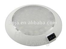 5-1/2 inch LED Dome Light White Plastic, Low Profile 12v led rv lights