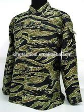 Military Uniform tactical uniform camouflage uniform with Tiger Stripe Camo