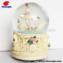 Lovely Girl Water Ball Figure , Dancing Girl Snow Globe, Resin Crystal Ball
