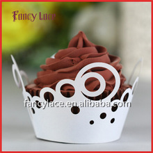 Wholesale Paper Hollow Cut Cupcake Wrappers Wedding Decoration ,Cake Cup Liners,Birthday Christmas Party Table Decoration