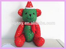 2014 Christmas bear stuffed plush toy jointed teddy bear