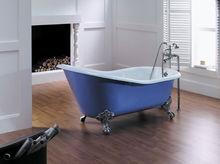 Low price soaking tub , clawfoot blue bathtub