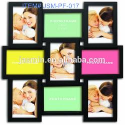 9 openings irregular plastic photo frame