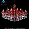 Red brillo moderna escalera lámparas