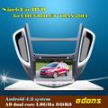 8 polegadas 3g/wifi android4.2 carro dvd player para chevrolet trax 2014 com gps navgigation, bluetooth, ipod, livre mapa