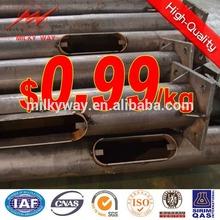 hot dip galvanized street lighting pole price factory