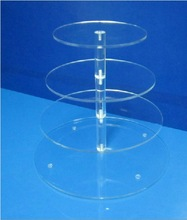 Wedding party clear 4 tiers cupcake stand