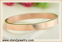 SLand jewelry guangzhou supplier alibaba wholesale high polish hinged design 18k gold stainless steel bangle