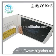 TFT lcd screen video display greeting card/video brochure/video postcard