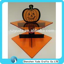 Halloween happy pumpkin cupcake stand acrylic cake stand plastic cake stand