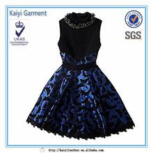 De lujo del otoño invierno europeo de moda del partido vestido de fiesta vestido