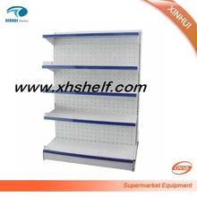 Single side modern gondola shelf with punching board store & supermarket shelf