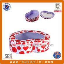 2014 fashionable heart shape gift tin box