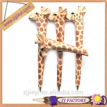2014 new design wood animals carved pen for sale