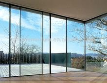 2014 Hot sale aluminum sliding glass walls