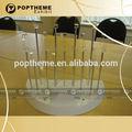 blanco de moda reloj de acrílico display stands c con anillo para la tienda al por menor puede ser personalizado