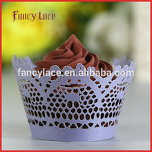Paper Cutting Cupcake Liners, Wedding Cake Cup Containers for Christmas Party Table Birthday Cake Paper Decors