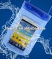 Transparente azul PVC del teléfono celular de la bolsa del, Claro del bolso del caso