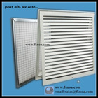 aluminum return air grille with door hinged filter and frame