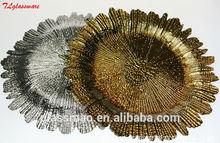 elegant decorative glass plate