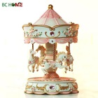 Polyresin Carousel Music Box, Resin Merry-go-round Musical Box For Gifts