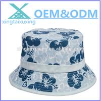 2014 wholesale fashion floral girls supreme bucket hat