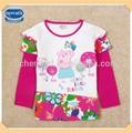 ( f5450) nova fábrica de meninas peppa pig camiseta crianças 2-6 ano
