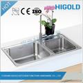 Dupla tigela pia da cozinha personalizados amplamente utilizado undermount dissipador dobro da bacia,