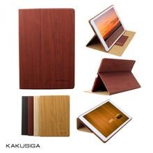Kaku professional flip leather wood case for ipad mini/for ipad mini 2 case