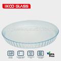 27cm/30cm rodada forno microondas e cofre de vidro de borosilicato de pizza assar pan