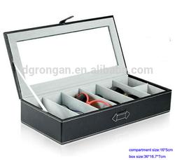 Customized pu leather sunglasses storage cases for 5 kids eyeglasses B03-151016-3