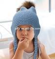 2015 anno nuovo prodotto moda carino cappelli bambino maglia per bambini ragazzi inverno ingrosso pom pom pelliccia cappelli del crochet baby