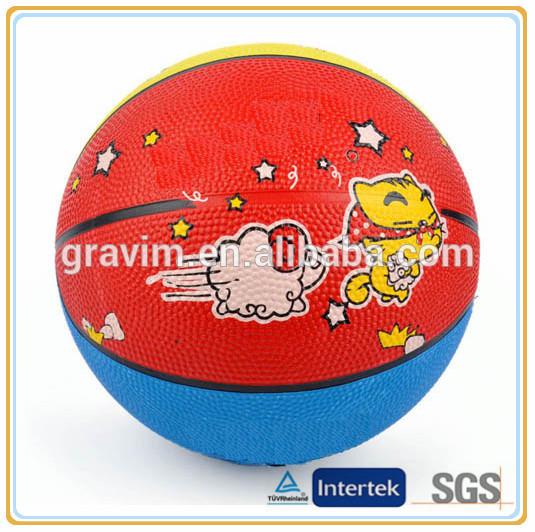 en iyi satış okul toptan karikatür kauçuk malzeme marka logosu özel baskılı basketbol oyuncak