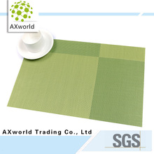 Beautifully made green PVC heat protection table plate mat
