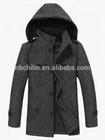 New Style Men's Woolen Winter Overcoat, Casual Style, Detachable Hat, Stand Collar, CL0011
