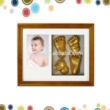 Creative 3D baby handprint frame clay in high quality keepsake box