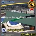 El color verde de la piscina de natación de la vela de sol sombra- canopy triangel 3.6x3.6x3.6m