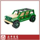 Bamboo handmade jeep scale model car