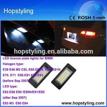 Super bright E60 led license lamp , e81 e87 led license lamp for bmw led license light