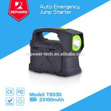 2014 New Arrival 23100mah Powerful 24V mini car jump starter car emergency kit