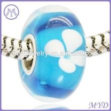 murano flower lampwork glass bead