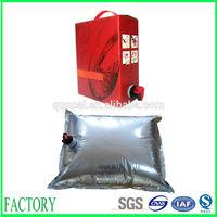 Hot sale 1~25L free sample bag in box wine pack bag