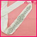 De lujo de la boda de diamante de imitación y cinturones para fajines/cinchos wbb-006 vestido