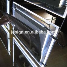 Super slim hanging acrylic real estate LED sign frame