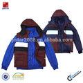 Disegno popolare twimset degli uomini jacket+nylon 40d trasparente rivestito maglia
