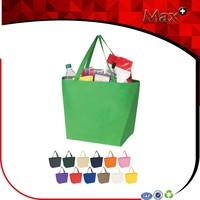 Max+ Reusable Assorted Colors 80GSM Non Woven Shopping Tote Bag