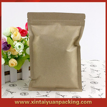 easy to open resealable plastic craft paper zip lock bag for food