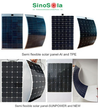 Light Weight Semi Flexible Solar Panel 120W