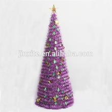 PET/PVC150CM foldable spiral christmas trees metal frame christmas tree artificial christmas trees ornament